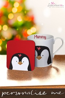 Personalised Christmas Characters Mug And Coaster by Signature PG