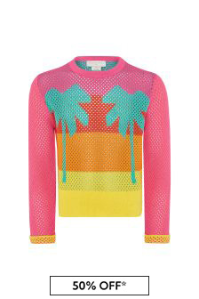 Girls Multicoloured Cotton Jumper