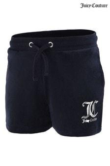 Juicy Couture Blue Velour Shorts