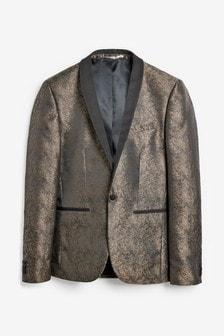 Skinny Fit Jacquard Blazer