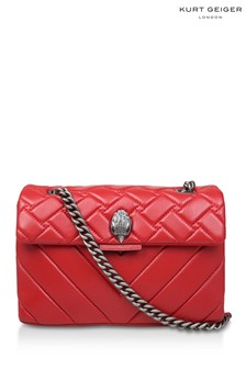 Kurt Geiger London Leather Kensington Red Day Bag