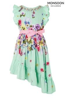 Monsoon Green Pansy Dress