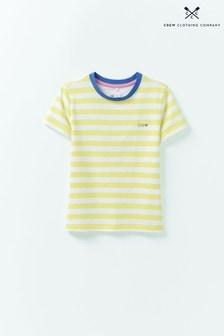 Crew Clothing Green Crew Breton Stripe T-Shirt