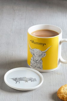 Hamish Family Mum Mug With Coaster