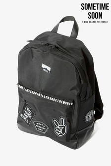 Sometime Soon Black Elias Logo Backpack