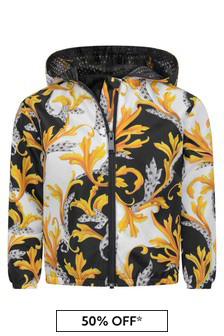 Versace Baby Boys White Black & Gold Jacket
