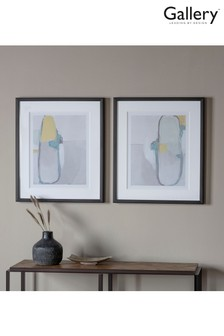 Nordic Abstract Set of 2 Framed Art by Gallery Direct