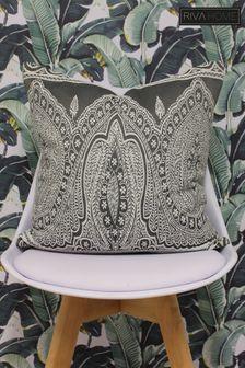 Riva Home Grey Paisley Cushion