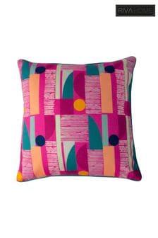 Riva Home Pink Barcelona Art Deco Geo Cushion