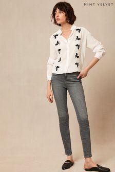 Mint Velvet Joliet Grey Skinny Jeans