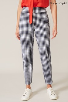 Phase Eight Blue Tyna Gingham Trousers