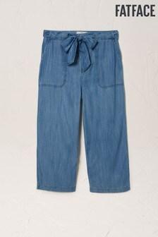 FatFace Blue Exmouth TENCEL™ Crop Trousers