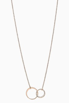 'Just For You' Pavé Circle Necklace