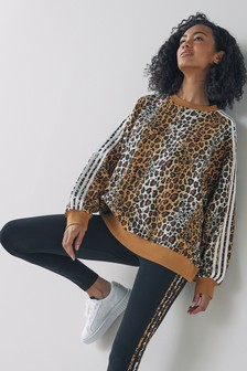 adidas Originals Leopard Lux Sweat Top