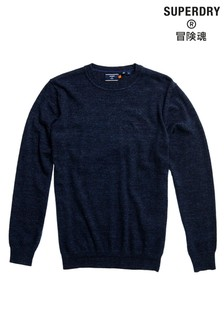 Superdry Navy Crew Knit Sweater