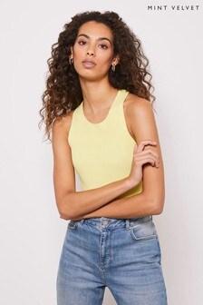 Mint Velvet Neon Lime Racer Back Vest