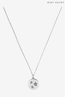 Mint Velvet Silver Plated Disc Necklace