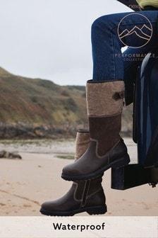 Performance Waterproof Signature Leather Midi Felt Boots