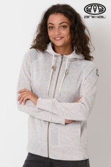 Animal Grey Warmth Zip Through Fleece