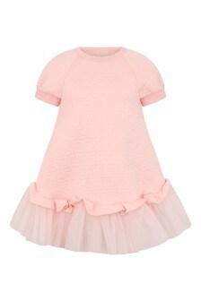 Girls Pink FF Logo Dress
