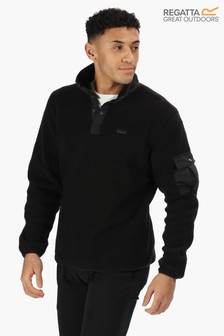 Regatta Black Cormac Half Button Fleece