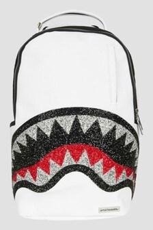 Sprayground White Trinity 2.0 Shark Backpack