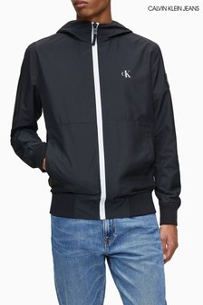 Calvin Klein Jeans Black Packable Hood Lightweight Jacket