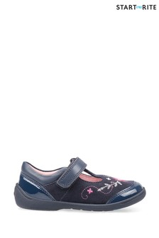 Start-Rite Dance Navy Suede Patent First Steps Shoes