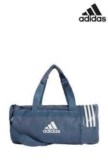 Маленькая спортивная сумка чернильного цвета с 3 полосками adidas