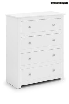Radley 4 Drawer Chest Surf White by Julian Bowen