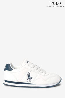 Ralph Lauren White Big Pony Jogger Trainers