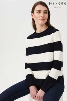 Hobbs Blue Cleo Cotton Sweater
