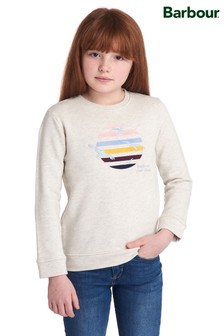 Barbour® Girls Grey Embroidered Sweatshirt