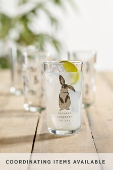 Set of 4 Bunny Glasses