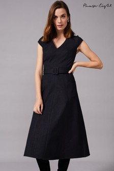Phase Eight Blue Timothia Denim Fit And Flare Dress
