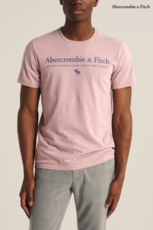 Abercrombie & Fitch Pink Logo T-Shirt