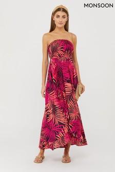 Monsoon Pink Priti Bandeau Dress