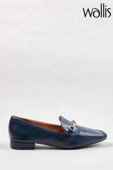 Wallis Blue Bruges Soft Square Trim Loafers