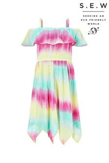 Monsoon Yellow S.E.W Thaia Tie Dye Frill Dress