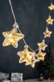 10 Glass Star Line Lights