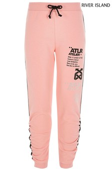 River Island Coral Unique Atlr Sporty Joggers