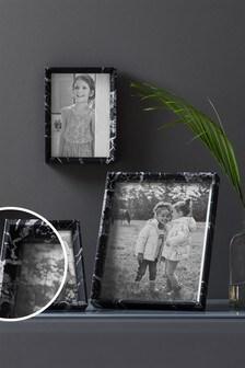 Black Marble Effect Photo Frame