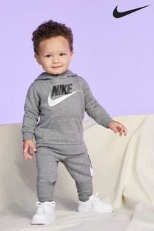 Nike Infant Logo Fleece Pullover Hoodie And Jogger Set