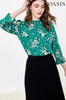 Oasis Green Dandelion Floral Top