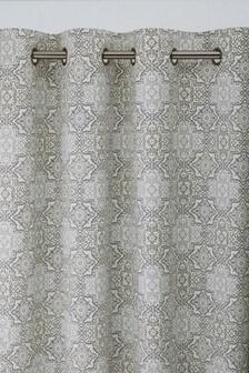Tile Print Eyelet Curtains