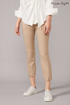 Phase Eight Neutral Louise Crop Trousers