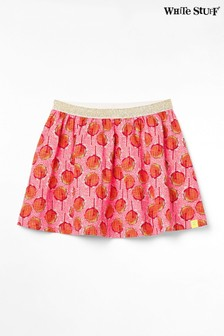 White Stuff Orange Kids Fliss Jersey Skirt