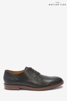 Motion Flex Leather Derby Shoes