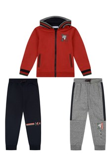 Boys Red And Navy 3 Piece Tracksuit