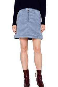 Esprit Blue Corduroy Skirt